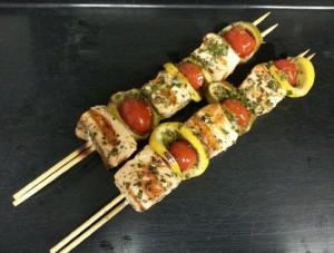 salmon kebabs