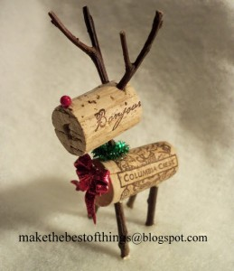 Wine cork reindeer 1